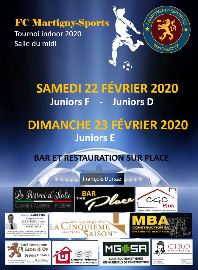 Affiche du tournoi indoor 2020
